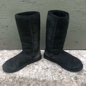 UGG Shoes - UGG Size W10 (wide) Classic Tall Boot Black Lined